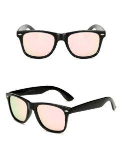 Okulary przeciwsłoneczne D02 błyszczące łososiowe