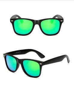 Okulary przeciwsłoneczne D01 matowe zielone 1