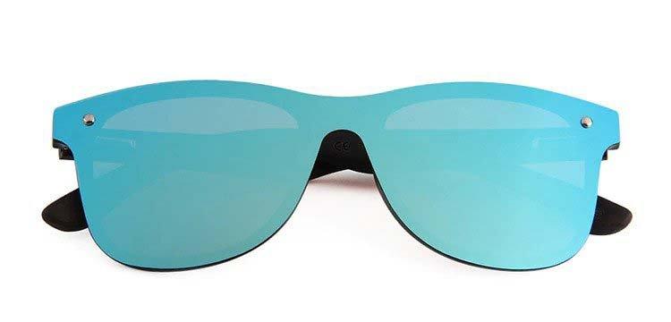 Drewniane okulary przeciwsłoneczne C04- niebieskie - heban 7