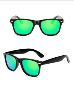 Okulary przeciwsłoneczne D02 błyszczące zielone