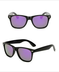 Okulary przeciwsłoneczne D02 błyszczące fioletowe