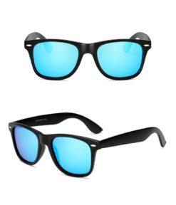 Okulary przeciwsłoneczne D02 błyszczące niebieskie