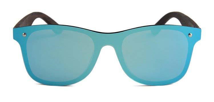 Drewniane okulary przeciwsłoneczne C04- niebieskie - heban 6