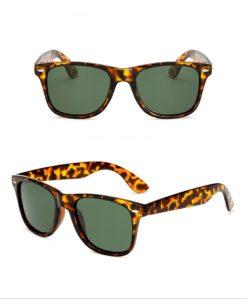 Okulary przeciwsłoneczne D03 panterka ciemno zielone