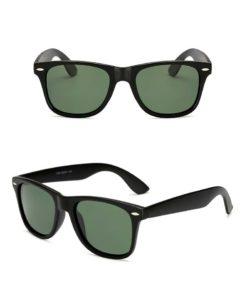 Okulary przeciwsłoneczne D01 matowe ciemno-zielone