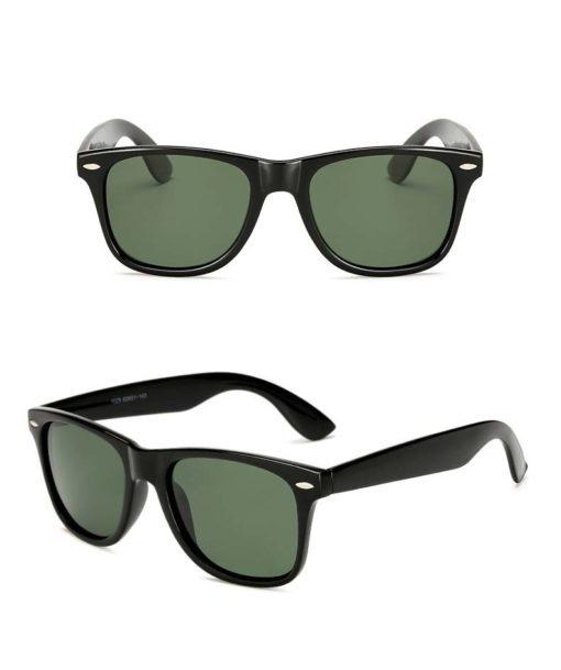 Okulary przeciwsłoneczne D02 błyszczące ciemno-zielone