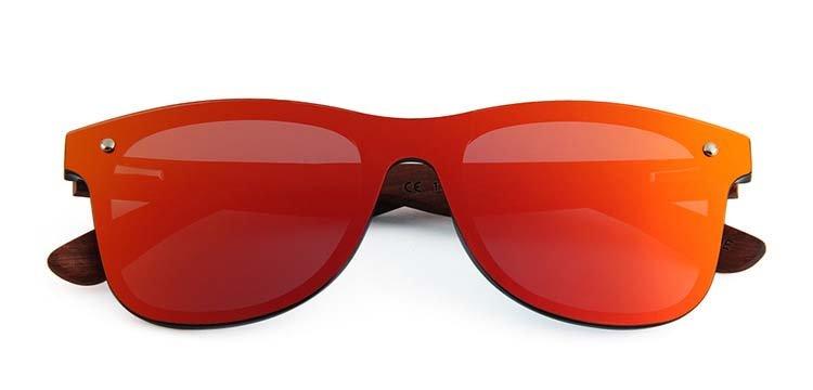 Drewniane okulary przeciwsłoneczne C04- pomarańczowe - palisander 5