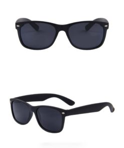 Okulary przeciwsłoneczne D02 błyszczące czarne