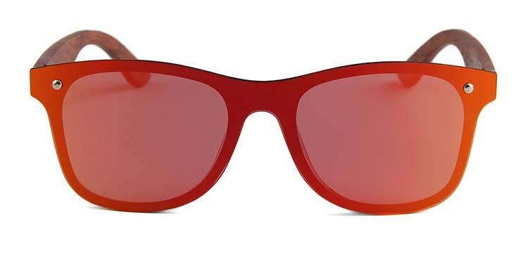 Drewniane okulary przeciwsłoneczne C04- pomarańczowe - palisander 6
