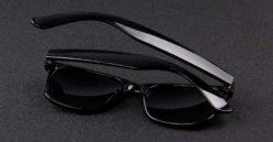 Okulary przeciwsłoneczne D02 błyszczące ciemno-zielone 5
