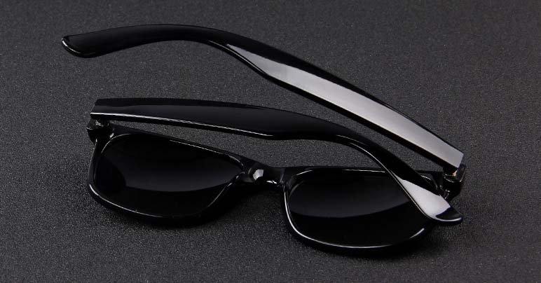 Okulary przeciwsłoneczne D02 błyszczące ciemno-zielone 12