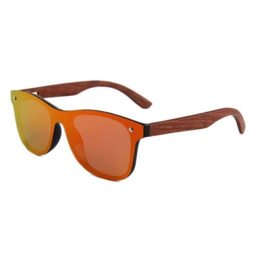 Drewniane okulary przeciwsłoneczne C04- pomarańczowe – palisander