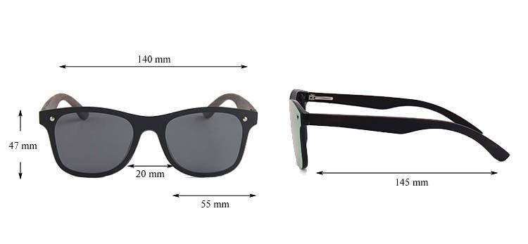 Drewniane okulary przeciwsłoneczne C04- czarne - heban 4