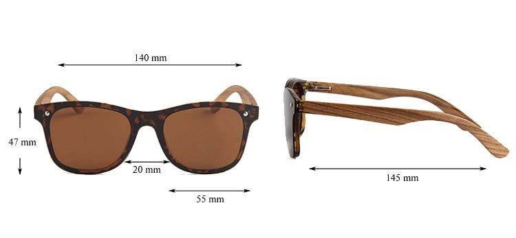 Drewniane okulary przeciwsłoneczne C04- panterki- zebrano 4