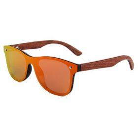okulary drewniane lustrzanki c04 pomarańczowe