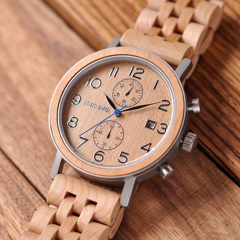 Drewniany zegarek Bobo Bird Premium S08-2