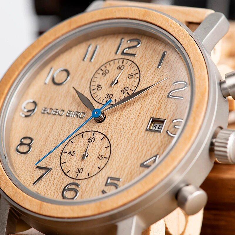 Drewniany zegarek Bobo Bird Premium S08-2 tarcza