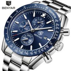 Zegarek Benyar Speedmaster niebieski bransoleta
