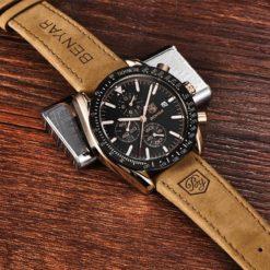 Zegarek Benyar Speedmaster złoty czarny 1