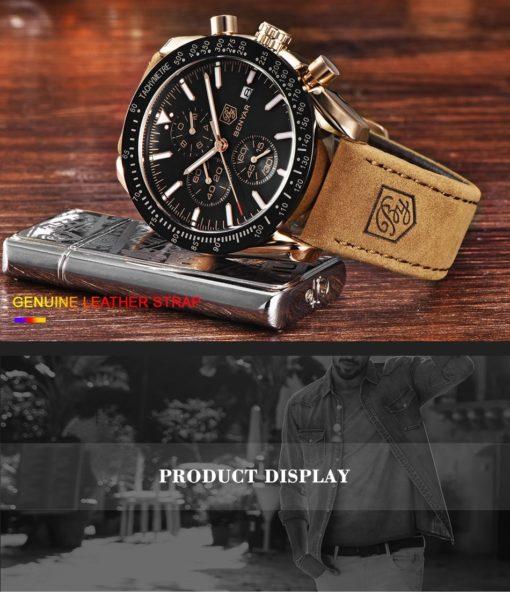 Zegarek Benyar Speedmaster złoty czarny