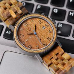 Zegarek drewniany Bobo Bird Premium S08-3 5