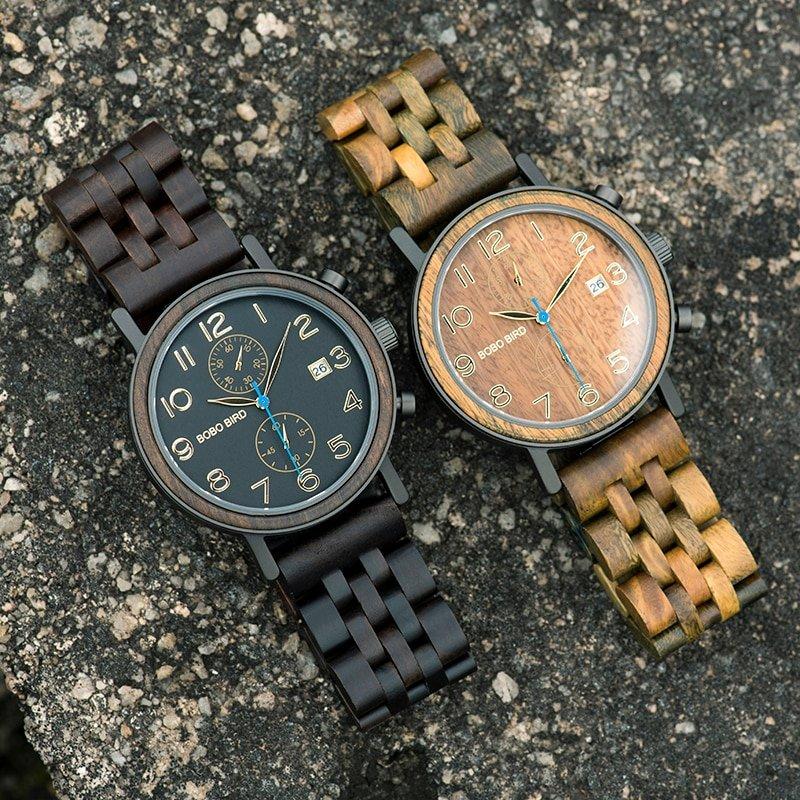 Drewniane zegarki Bobo Bird Premium