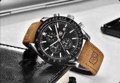 Zegarek Benyar Speedmaster srebrny czarny