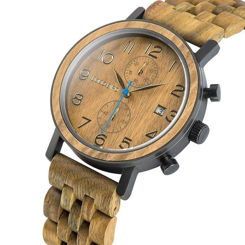 Drewniany zegarek Bobo Bird Premium S08-3