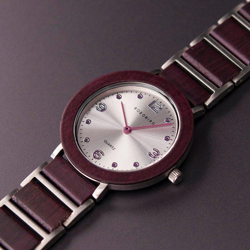 Zegarek drewniany Bobo Bird Lark S16-3 12