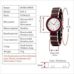 Zegarek drewniany Bobo Bird Lark S16-3 6