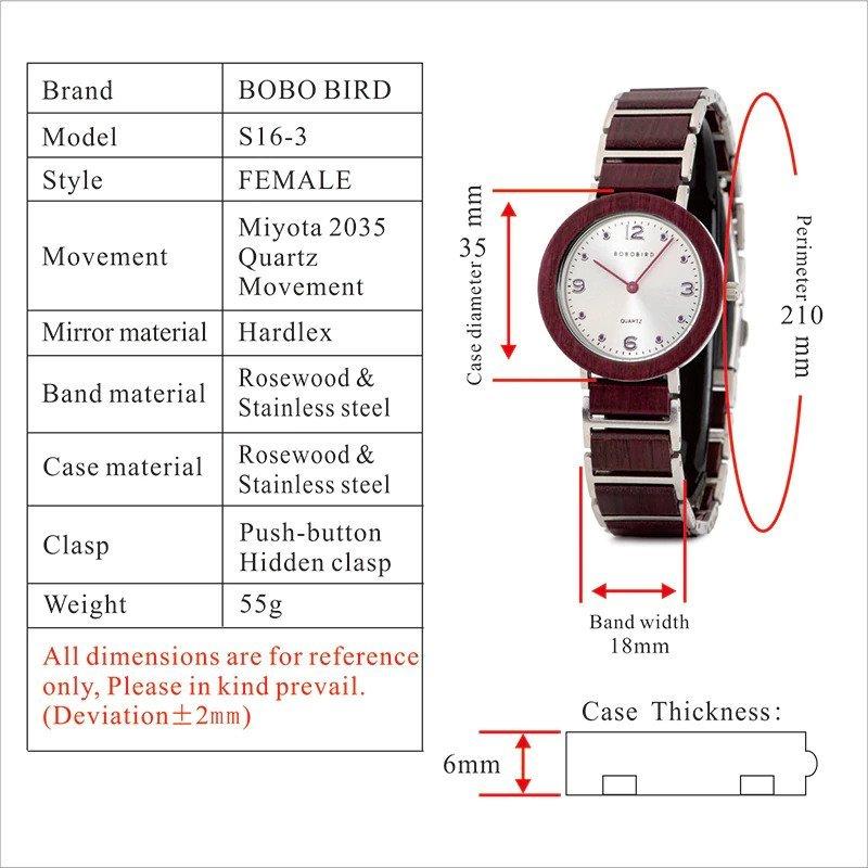 Zegarek drewniany Bobo Bird Lark S16-3 17