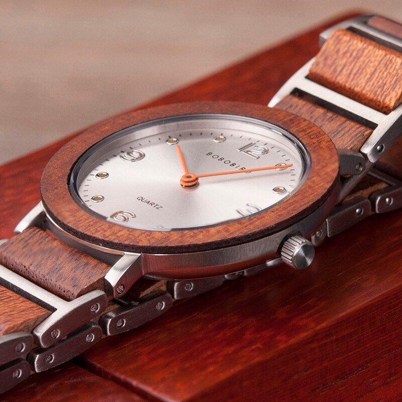 Zegarek drewniany Bobo Bird Lark S16-4 8