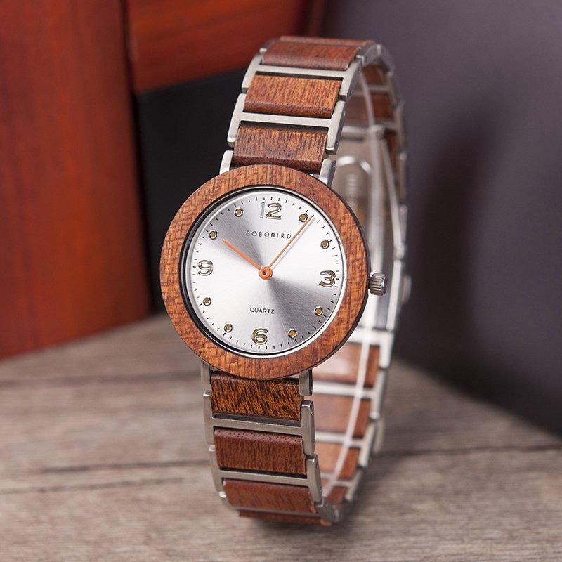 Zegarek drewniany Bobo Bird Lark S16-4 10