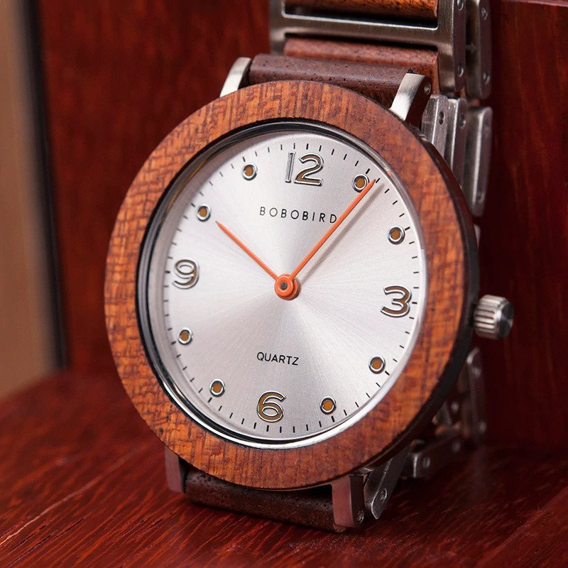 Zegarek drewniany Bobo Bird Lark S16-4 12