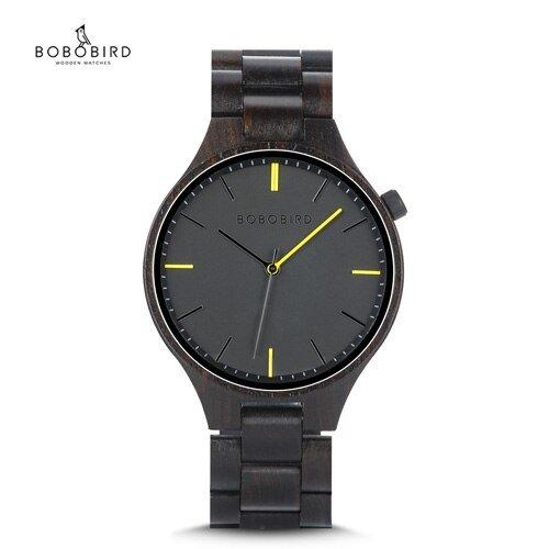 Drewniany zegarek Bobo Bird Slim S27-1