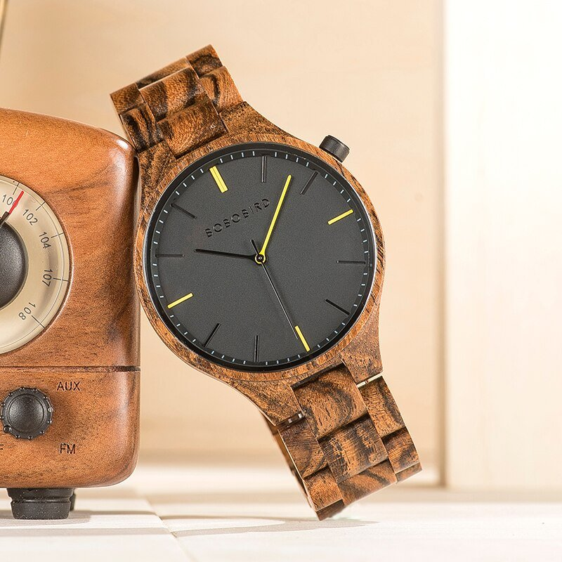 Drewniany zegarek Bobo Bird Slim S27-2
