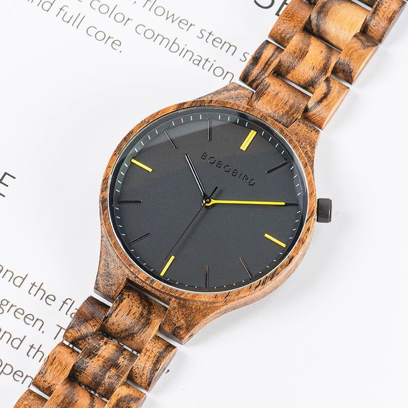 Drewniany zegarek Bobo Bird Slim S27-2 tarcza