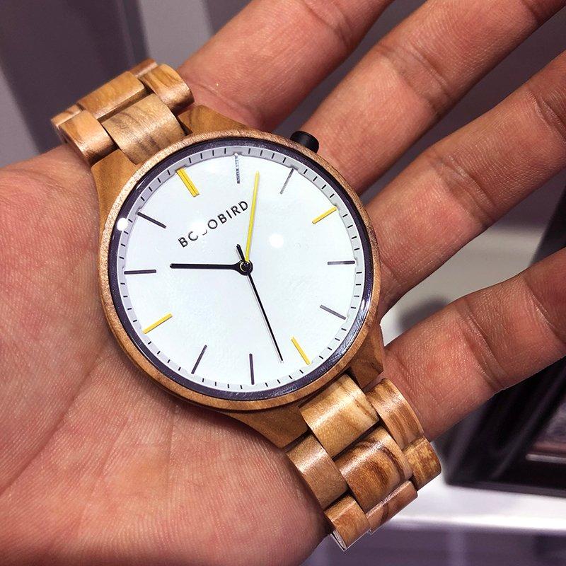 Drewniany zegarek Bobo Bird Slim S27-3 tarcza