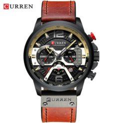 Zegarek Curren Milano brązowy czarny