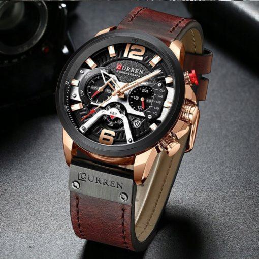 Zegarek Curren Milano brązowy złoty