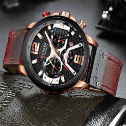 Zegarek Curren Milano brązowy złoty 2