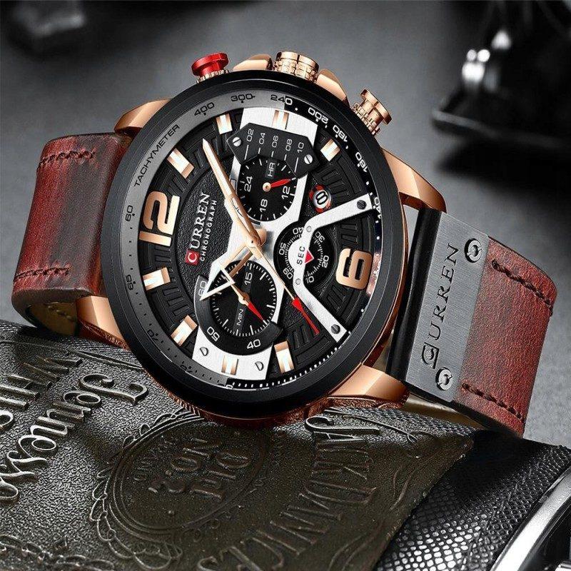 Zegarek Curren Milano brązowy złoty 5