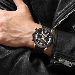Zegarek Curren Milano brązowy złoty 3