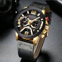 Zegarek Curren Milano czarny złoty