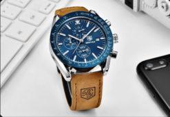 Zegarek Benyar Speedmaster srebrny niebieski