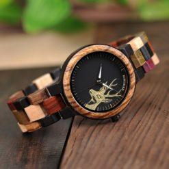 Zegarek drewniany Bobo Bird Rainbow Pic P14-2 4