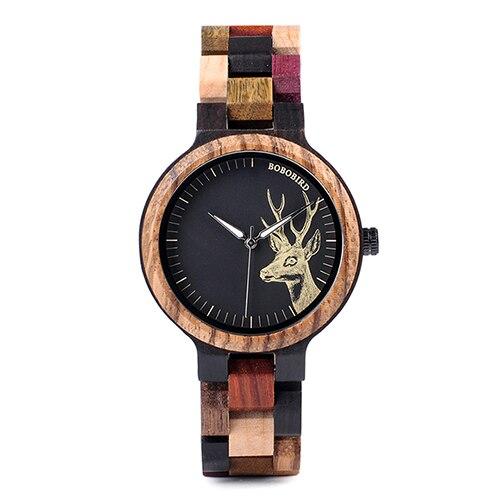 Zegarek drewniany Bobo Bird Rainbow Pic P14-2