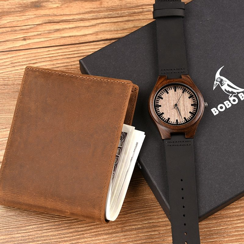 Zegarek drewniany Bobo Bird D26 +portfel 8