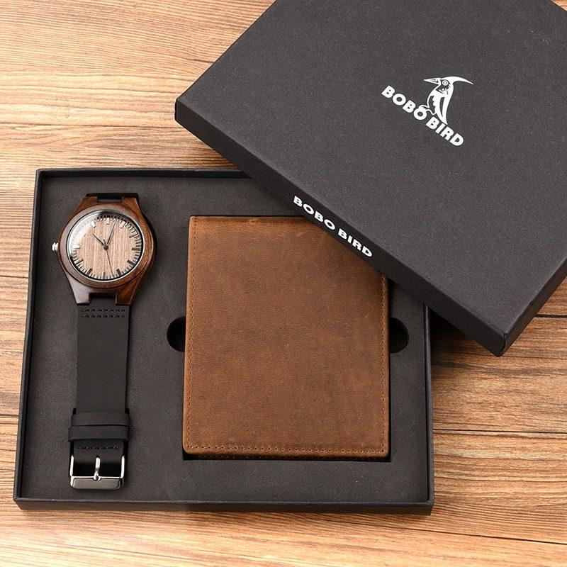 Zegarek drewniany Bobo Bird D26 +portfel 9