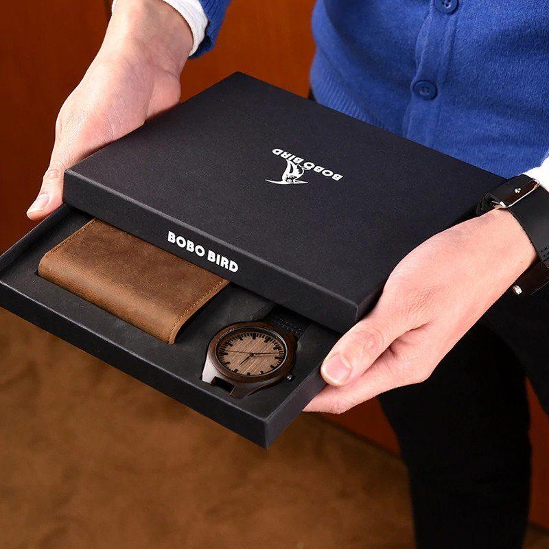 Zegarek drewniany Bobo Bird D26 +portfel 14